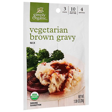 Simply Organic Gravy Mix Brown Vgtrn - 1 OZ