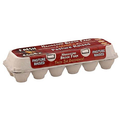 Handsome Brook Farm Cage Free Large Pasture Raised Eggs - 12 CT