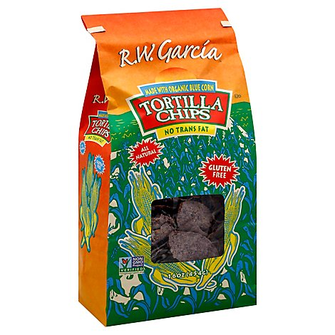 Rw Garcia Chip Tortilla Corn Blue - 16 OZ