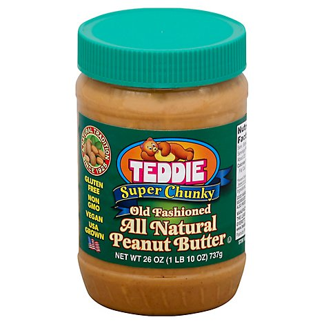 Teddie Natural Super Chunky Peanuit Butter - 26 OZ