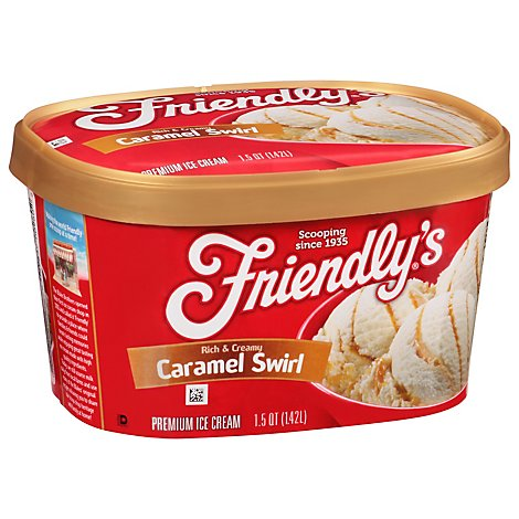 Friendly's Cream Ice Swirl Caramel - 1.5 QT