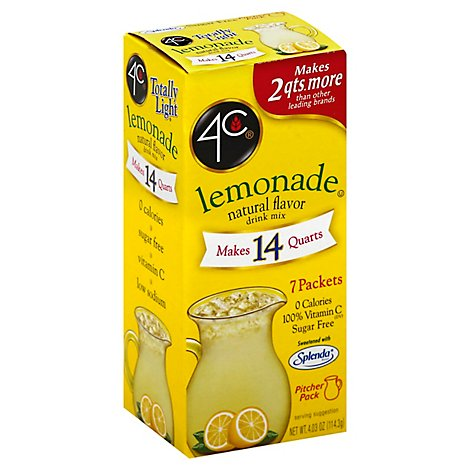 Four C Totally Light Lemonade Drink Mix - 4.03 OZ