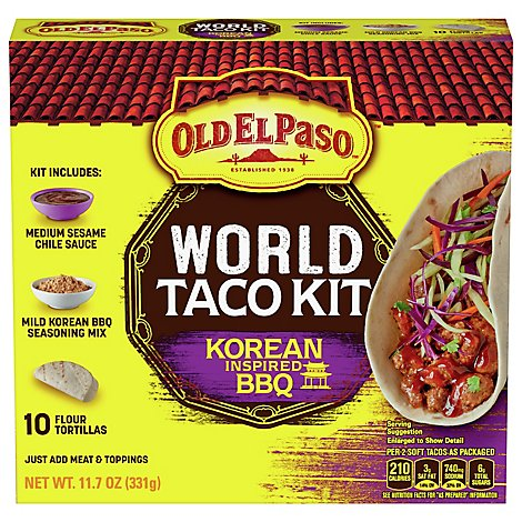 Old El Paso Korean Bbq Taco Dinner Kit - 11.7 OZ