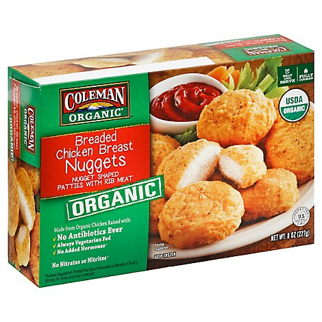 Coleman Organic Breaded Chicken Breast Nuggets - 8 OZ