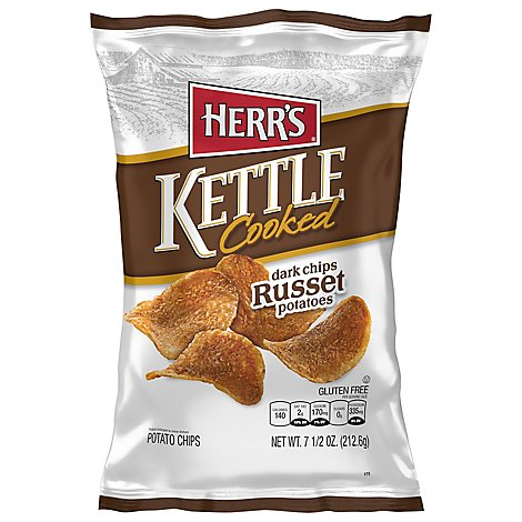 Herrs Kettle Cooked Russet Potato Chips - 7.5 OZ