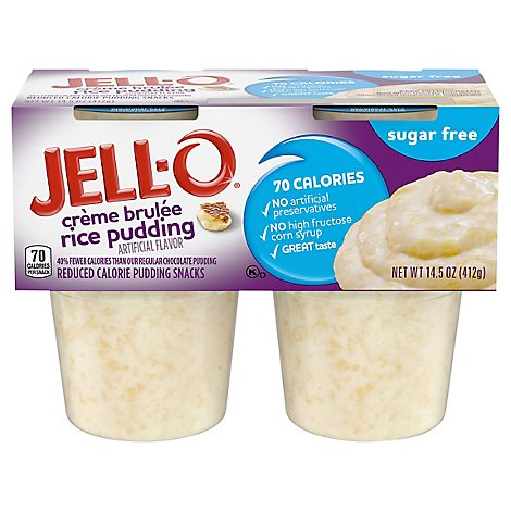 Jell O Sugar Free Rice Creme Brulee Pudding - 4-3.87 OZ