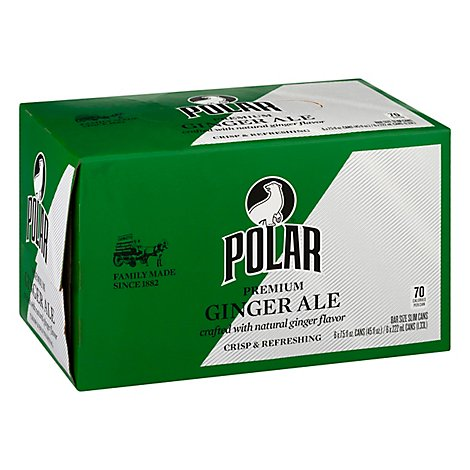 Polar Gingerale Cans - 6-7.5 FZ
