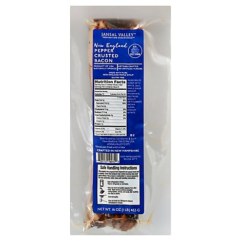Jansal Valley Pepper Crusted Bacon - 16 OZ
