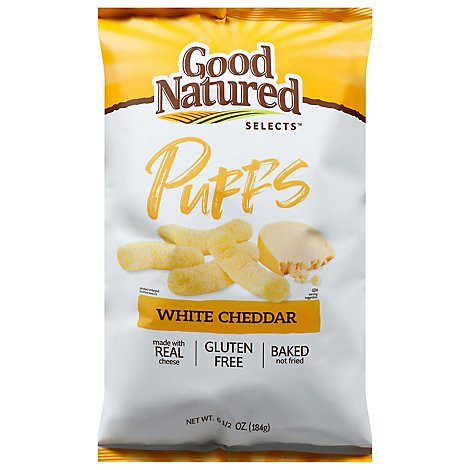 Herrs Good Natured White Cheddar Puffs - 6.5 OZ