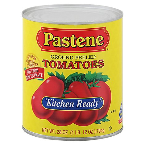 Pastene Kitchen Ready Peeled Tomatoes - 28 OZ