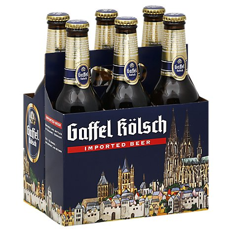 Gaffel Kolsch Ale 6 Count Long Neck Bottles - 6-12 FZ
