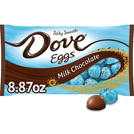 Dove Chocolate Candy Easter Eggs Milk Chocolate - 8.87 Oz