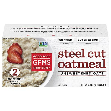 Good Food Made Simple Oatmeal Organic Unsweetened - 16 Oz