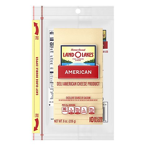 Land O Lakes Cheese Pre Sliced White American 10 Count - 8 Oz