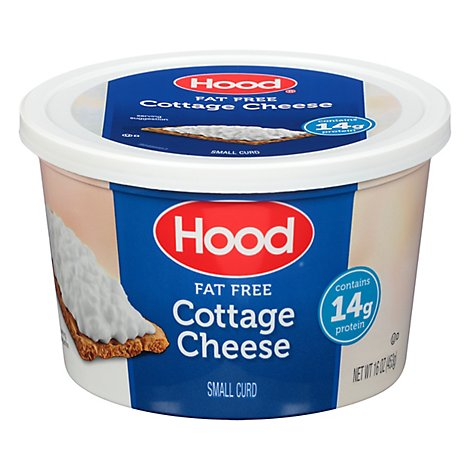 Hood Regular Cottage Cheese Fat Free 16 Oz - 16 OZ