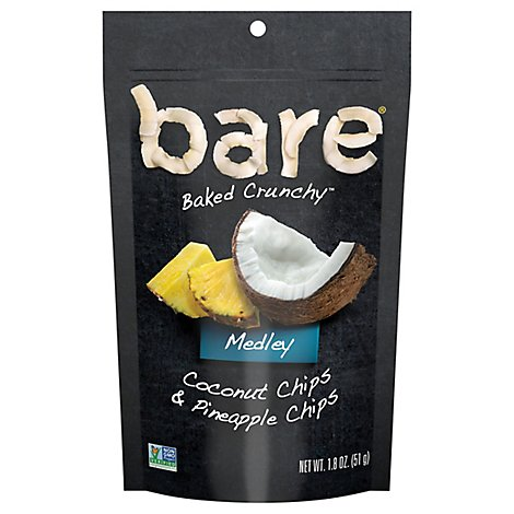 Bare Baked Crunchy Chips Pineapple & Coconut - 1.8 OZ