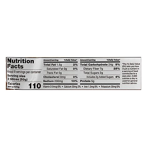 Fiber One White Bread - 16 OZ