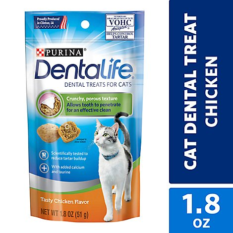 Dentalife Chicken Cat Snacks - 1.8 OZ