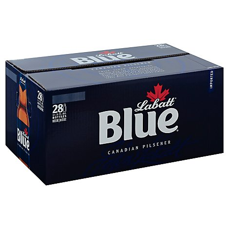 Labatt Blue Lager In Long Neck Bottles - 28-11.5 FZ