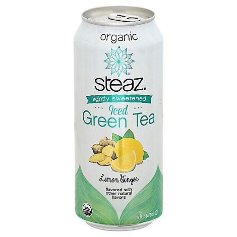 Steaz Tea Iced Lemon Ginger 16 Oz - 16 FZ