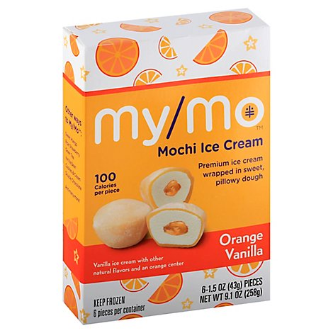 Mochi Ice Cream Orange Vanilla - 9.1 OZ
