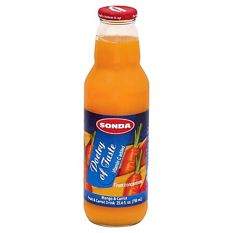 Sonda - Mango Carrot Juice 8/25 Oz - 25 OZ