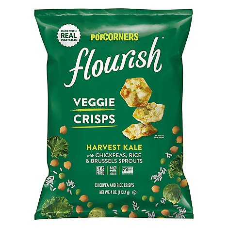 Flourish Veggie Crisps Harvest Kale - 4 OZ