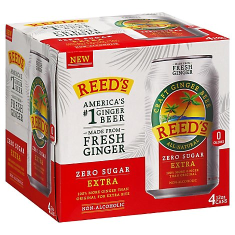 Reed's Zero Extra Ginger Beer - 48 FZ