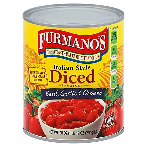 Furmano Ital Diced Tomatoes - 28 OZ
