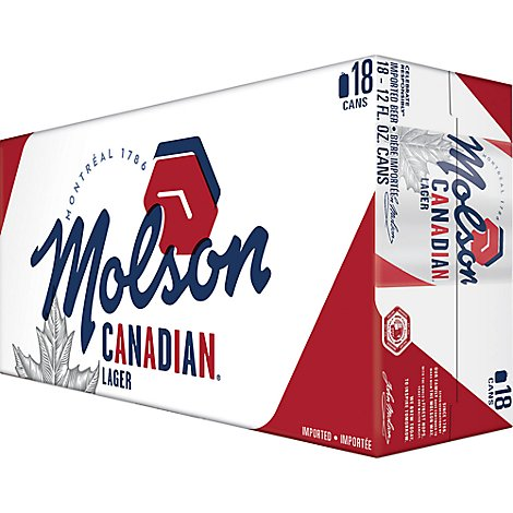 Molson Canadian In Cans - 18-12 FZ