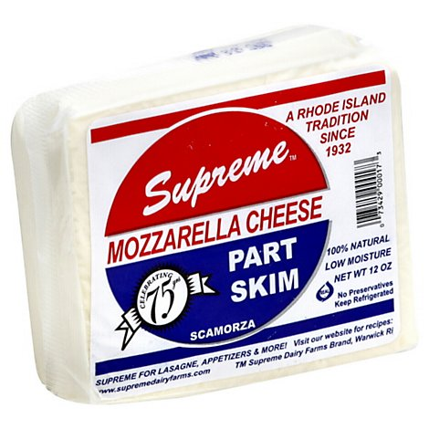 Supreme Cheese Mozzarella - 12 Oz