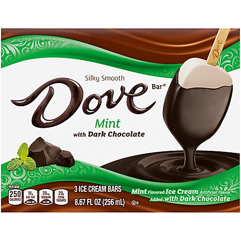 Dove Mint Ice Cream Single 2.89 Fluid Ounce 3 Per Pack - 8.67 FZ