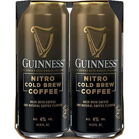 Guinness Nitro Cold Brew Coffee In Cans - 4-14.9 FZ