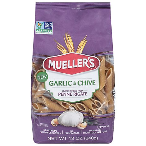 Muellers Garlic And Chive Penne Pasta - 12 OZ