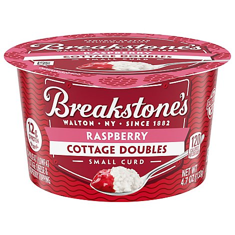Breakstones Raspberry Lowfat Cottage Cheese Doubles - 4.7 OZ