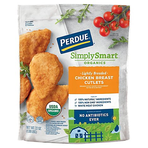 Perdue Simply Smart Chicken Breast Cutlets Breaded - 22 OZ