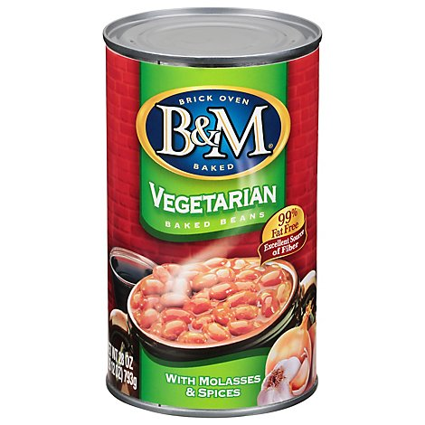 B&m Baked Beans Fat Free Vegetarian Canned 28oz - 28 OZ