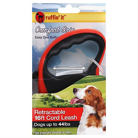 Ruffin It Comfort Grip 16 Feet Retractable Leash Dogs Up To 44 Lbs - Each