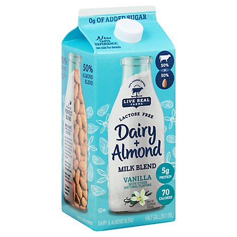 Live Real Farms Beverage Almond Unsweetened Vanilla Pahg Spout - 64 FZ