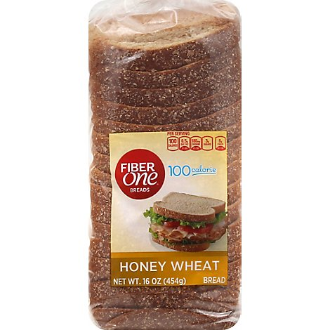 Fiber One Honey Wheat Bread - 16 OZ