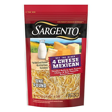 Sargento Off The Block Mexican Shredded Cheese - 16 OZ