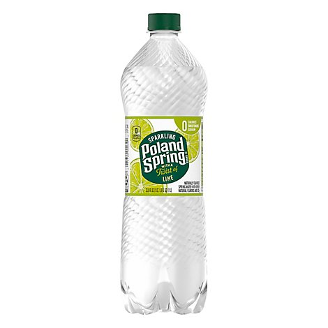 Poland Spring Sparkling Lime Water - 33.8 FZ