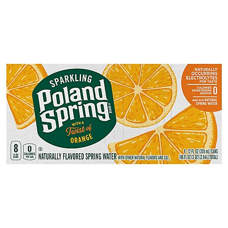 Poland Spring Sparkling Orange - 8-12 FZ