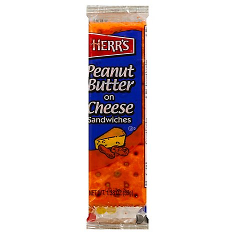 Herrs Crackers Peanut Butter On Cheese - 1.38 OZ