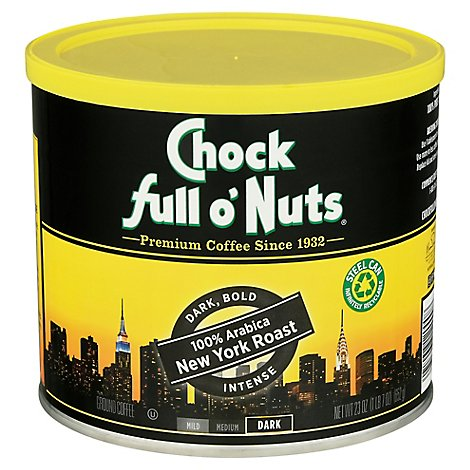 Chock Full Of Nuts New York Roast Ground Coffee - 23 OZ