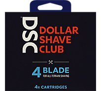 Dollar Shave Club Razor Refill Cartridges  4 Blade - 4 Count