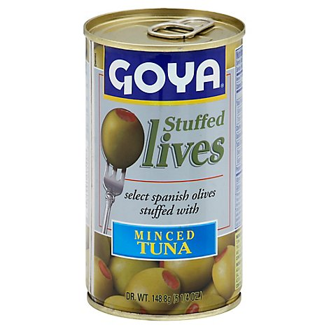 Goya Olives Stuffed W/tuna - 5.25 OZ