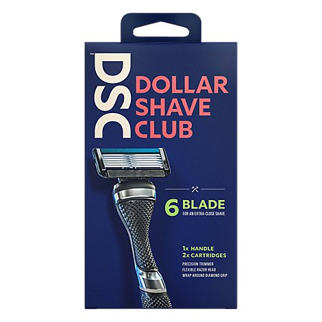 Dollar Shave Club Razor Starter Set 6 Blade Extra Close - Each