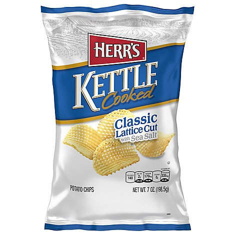 Herrs Kettle Cooked Lattice Cut Potato Chips - 7 OZ