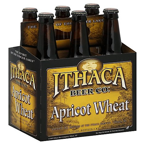 Ithaca Arpicot Wheat Ale 6 Count Long Neck Bottles - 6-12 FZ